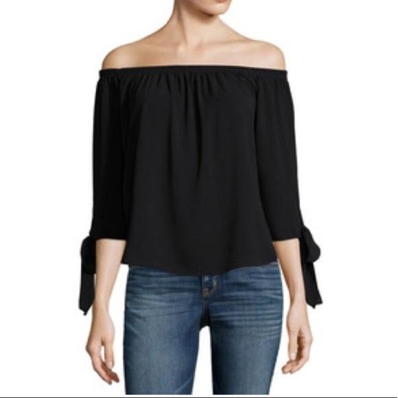 4abadbe30ad7 Jeans by Buffalo off shoulder blouse bow sleeve. NWT. Buffalo David Bitton